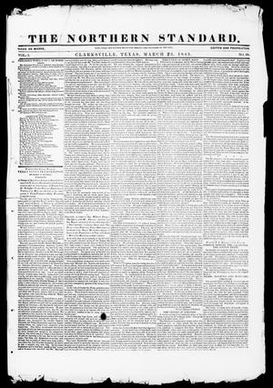 Primary view of object titled 'The Northern Standard. (Clarksville, Tex.), Vol. 1, No. 28, Ed. 1, Thursday, March 23, 1843'.