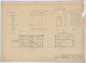 Primary view of object titled 'McMurry College President's Home, Abilene, Texas: Elevation and Mantel Details'.