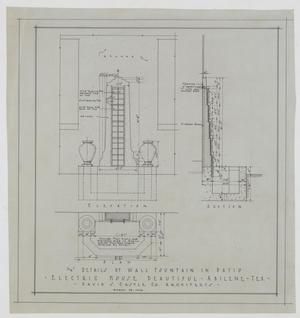 Primary view of object titled 'Electric House Beautiful, Abilene, Texas: Details of Wall Fountain in Patio'.
