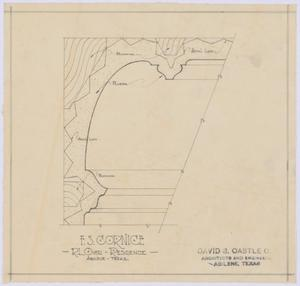 Primary view of object titled 'Over Residence, Abilene, Texas: F.S. Cornice'.