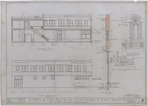 Primary view of object titled 'Radford Hotel, Abilene, Texas: Side Elevation'.