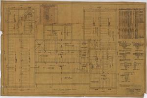 Primary view of object titled 'Stamford Inn, Stamford, Texas: First Floor Framing Plan'.