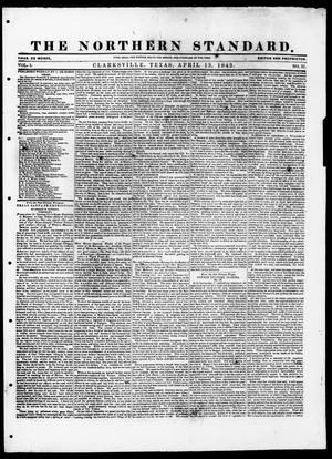 The Northern Standard. (Clarksville, Tex.), Vol. 1, No. 31, Ed. 1, Thursday, April 13, 1843