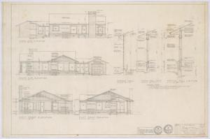 Primary view of object titled 'Travis Residence, Abilene, Texas: Elevations'.