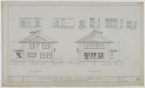 Primary view of object titled 'Sayles Residence, Abilene, Texas: West and East Elevations'.