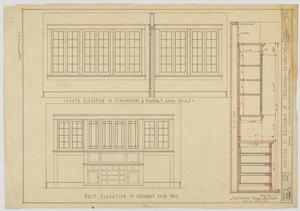 Primary view of object titled 'Radford Residence Addition, Abilene, Texas: South and West Elevation of Breakfast Room Walls'.
