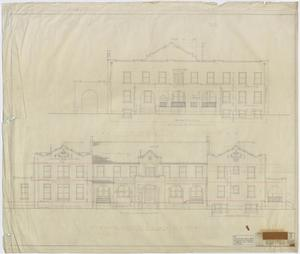 Primary view of object titled 'Stamford Inn, Stamford, Texas: Front and East Elevations'.