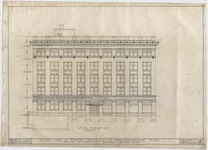 Primary view of object titled 'Hotel Building, Breckenridge, Texas: Side Elevation Plan'.