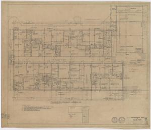 "Primary view of object titled 'The Professional Building, Abilene, Texas: Area ""A"" Floor Plan'."
