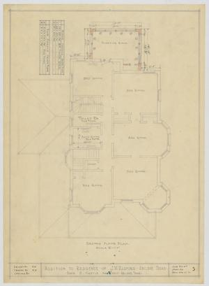 Primary view of object titled 'Radford Residence Addition, Abilene, Texas: Second Floor'.