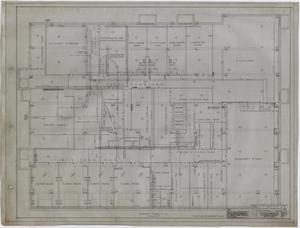 Primary view of object titled 'Settles' Hotel, Big Spring, Texas: Basement Floor Plan'.