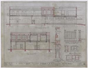 Primary view of object titled 'Radford Hotel, Abilene, Texas: Longitudinal Section'.