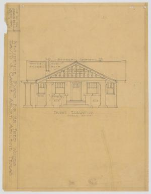 Primary view of object titled 'Woods Residence, Abilene, Texas: Front Elevation'.