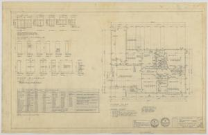 Primary view of object titled 'Walters Residence, Abilene, Texas: Floor Plan and Schedules'.