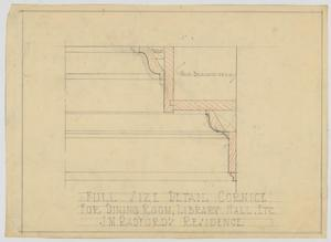 Primary view of object titled 'Radford Residence, Abilene, Texas: Dining Room Cornice'.