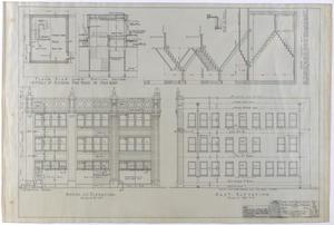 Primary view of object titled 'Abilene Medical & Surgical Clinic Office, Abilene, Texas: Details, Diagram, and Elevations'.