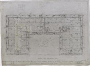 Primary view of object titled 'Radford Hotel, Abilene, Texas: Voided Second Floor Mechanical Plan'.