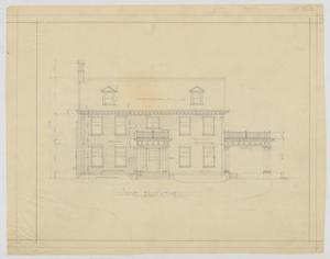 Primary view of object titled 'Oldham Residence, Abilene, Texas: West Elevation'.