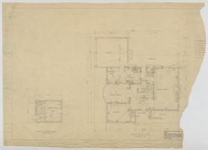 Primary view of object titled 'Sheppard Residence, Abilene, Texas: First Floor Mechanical Plan'.