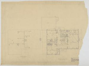 Primary view of object titled 'Sheppard Residence, Abilene, Texas: Attic and Floor Plan'.