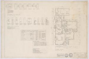 Primary view of object titled 'Travis Residence, Abilene, Texas: Floor Plan and Schedules'.