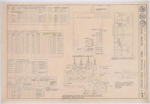 Primary view of object titled 'Green Oaks Nursing Home, Abilene, Texas: Basement Plan, Room Layout, and Piping Schematic'.