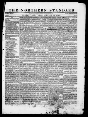 Primary view of The Northern Standard. (Clarksville, Tex.), Vol. 1, No. 50, Ed. 1, Saturday, October 14, 1843