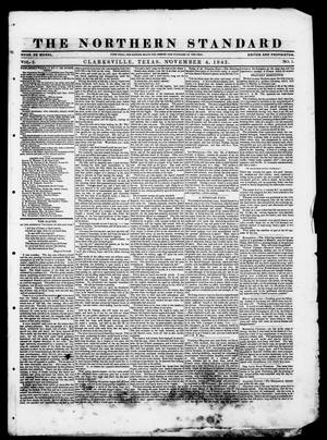 Primary view of object titled 'The Northern Standard. (Clarksville, Tex.), Vol. 2, No. 1, Ed. 1, Saturday, November 4, 1843'.