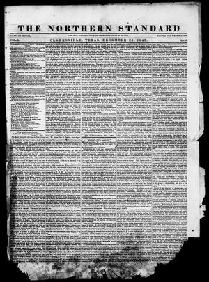Primary view of object titled 'The Northern Standard. (Clarksville, Tex.), Vol. 2, No. 8, Ed. 1, Saturday, December 23, 1843'.