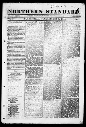 Primary view of object titled 'The Northern Standard. (Clarksville, Tex.), Vol. 2, No. 17, Ed. 1, Saturday, March 9, 1844'.
