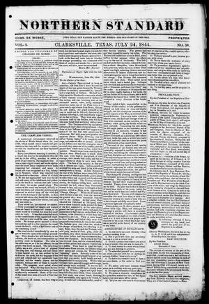 The Northern Standard. (Clarksville, Tex.), Vol. 2, No. 38, Ed. 1, Wednesday, July 24, 1844