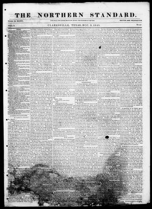 Primary view of object titled 'The Northern Standard. (Clarksville, Tex.), Vol. 3, No. 37, Ed. 1, Wednesday, December 3, 1845'.