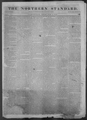 Primary view of object titled 'The Northern Standard. (Clarksville, Tex.), Vol. 3, No. 45, Ed. 1, Wednesday, February 4, 1846'.