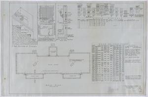Primary view of Abilene State Hospital Men's Dormitory, Abilene, Texas: Roofing Plan