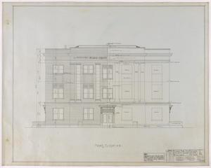 Primary view of Reagan County Courthouse: Front Elevation