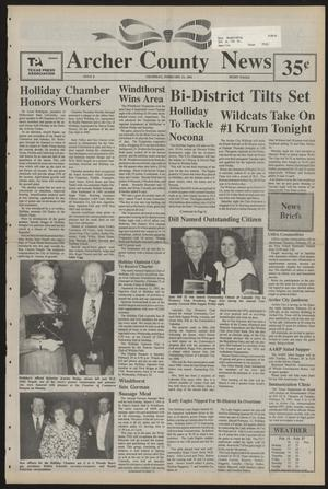 Primary view of object titled 'Archer County News (Archer City, Tex.), No. 8, Ed. 1 Thursday, February 21, 1991'.