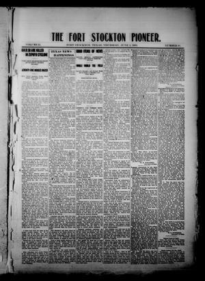 The Fort Stockton Pioneer. (Fort Stockton, Tex.), Vol. 2, No. 10, Ed. 1 Thursday, June 3, 1909