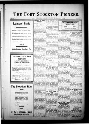 The Fort Stockton Pioneer. (Fort Stockton, Tex.), Vol. 4, No. 44, Ed. 1 Friday, February 9, 1912