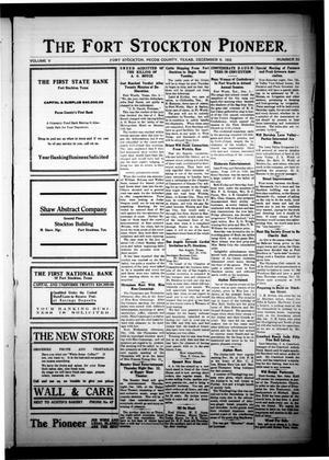 The Fort Stockton Pioneer. (Fort Stockton, Tex.), Vol. 5, No. 35, Ed. 1 Friday, December 6, 1912
