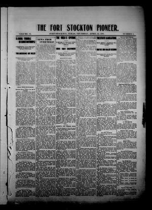 The Fort Stockton Pioneer. (Fort Stockton, Tex.), Vol. 2, No. 4, Ed. 1 Thursday, April 22, 1909