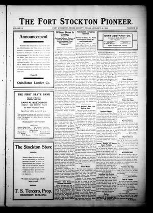 The Fort Stockton Pioneer. (Fort Stockton, Tex.), Vol. 4, No. 40, Ed. 1 Friday, January 12, 1912