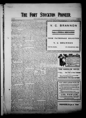 The Fort Stockton Pioneer. (Fort Stockton, Tex.), Vol. 1, No. 42, Ed. 1 Thursday, January 14, 1909