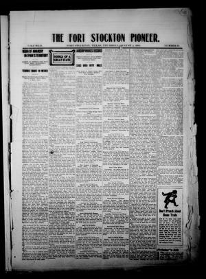 Primary view of object titled 'The Fort Stockton Pioneer. (Fort Stockton, Tex.), Vol. 2, No. 19, Ed. 1 Thursday, August 5, 1909'.