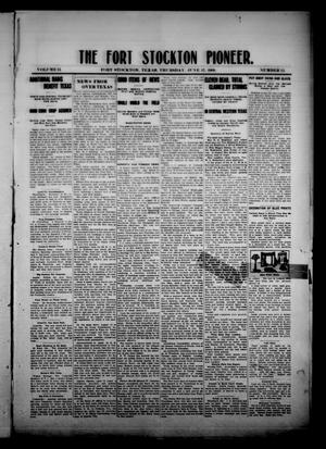 Primary view of object titled 'The Fort Stockton Pioneer. (Fort Stockton, Tex.), Vol. 2, No. 12, Ed. 1 Thursday, June 17, 1909'.