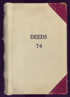 Primary view of object titled 'Travis County Deed Records: Deed Record 74'.