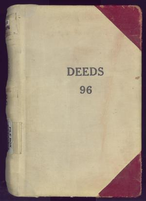 Primary view of object titled 'Travis County Deed Records: Deed Record 96'.