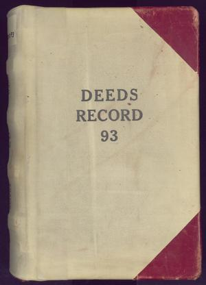 Primary view of object titled 'Travis County Deed Records: Deed Record 93'.