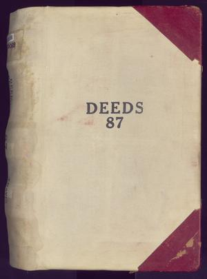 Primary view of object titled 'Travis County Deed Records: Deed Record 87'.