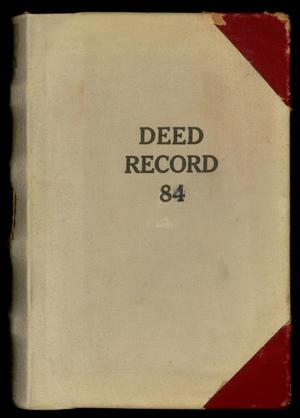 Primary view of object titled 'Travis County Deed Records: Deed Record 84'.