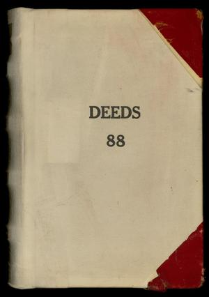 Primary view of object titled 'Travis County Deed Records: Deed Record 88'.